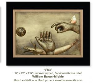 Artist William Baran-Mickle as seen in Sculpture Magazine