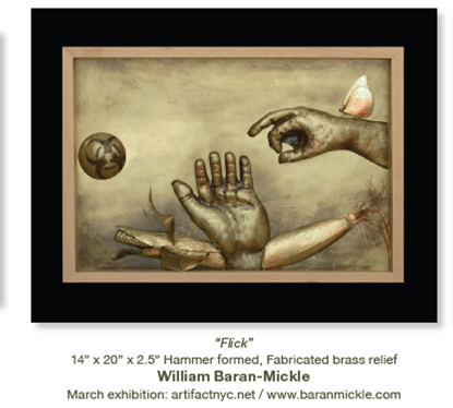 Artist William Baran-Mickle as seen in Sculpture Magazine